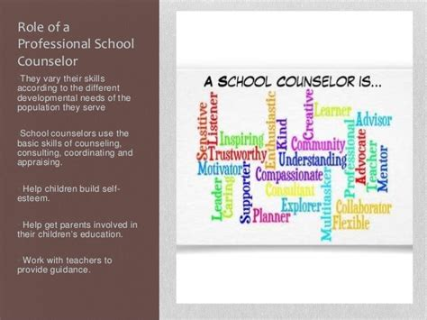 guidance counselor skills asca roles of a school counselors