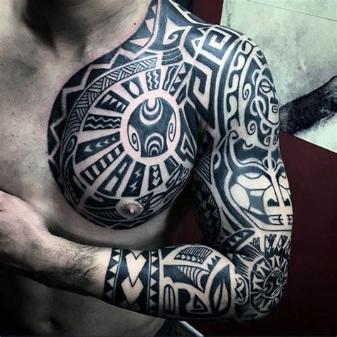 how to do tribal tattoos 90 tribal sleeve tattoos for manly arm design ideas