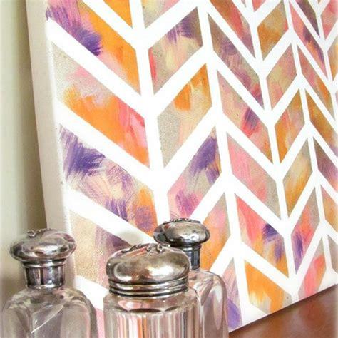 tutorial wall painting watercolor chevron wall art diy tutorial hip image