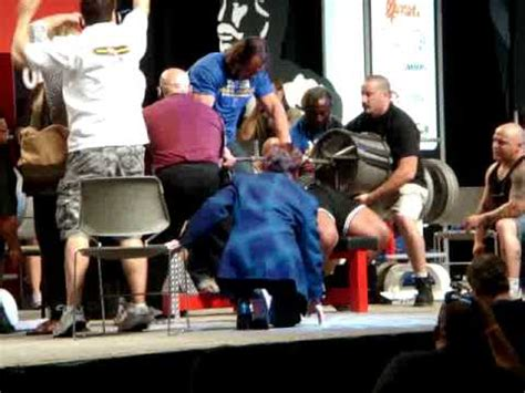 bench press death glenn russo bombs with 1000 lb bench press