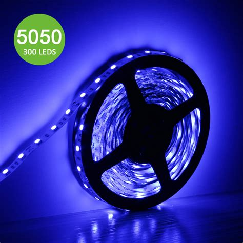Blue 5050 Led Light Strip 12 Volt For Home Bar Party 12v Led Light