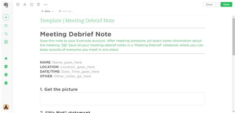 21 Evernote Templates Workflows To Skyrocket Productivity Process Street Event Debrief Template