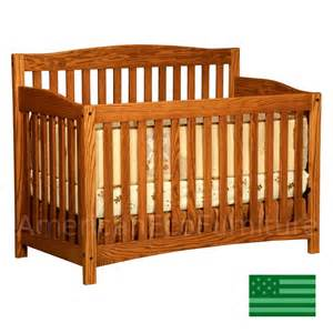 Baby Cribs Amish Monterey 4 In 1 Convertible Baby Crib Solid Wood