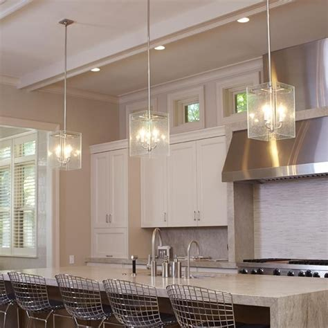 clear glass pendant lights for kitchen island glass panel pendants light kitchen island brass light