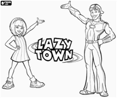 lazy town coloring pages printable games