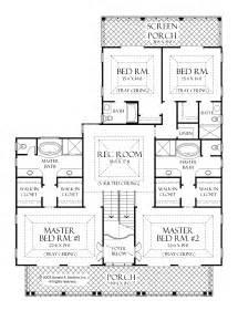 one level house plans with two master suites arts bedroom
