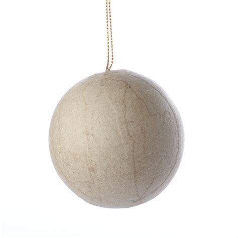 How To Make Paper Mache Balls - paper mache ornament paper mache basic craft