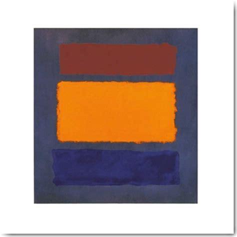 Rothko Kunstdruck by Rothko Untitled Brown Orange Blue On Maroon