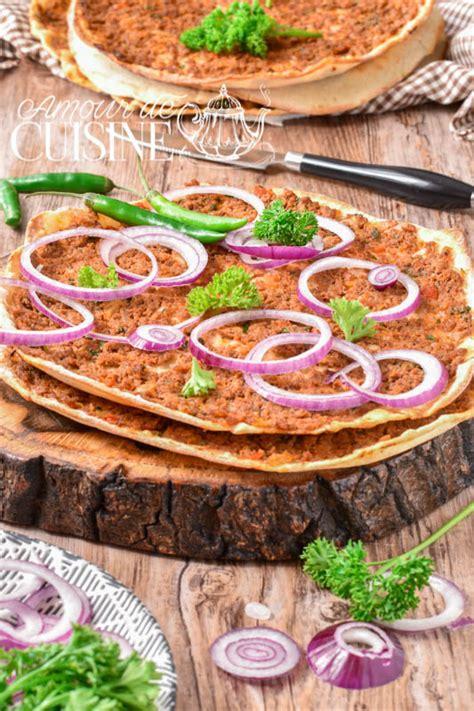 recettes cuisine l馮鑽e lahmacun la recette authentique de la pizza turque amour