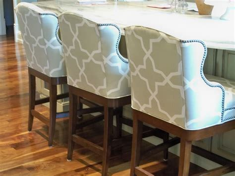 Upholstered Bar Height Chairs Outdoor Counter Stools Upholstery Fabric By The Yard