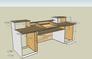 Diy Studio Desk Plans 1000 Images About Diy Studio Dj Desks On