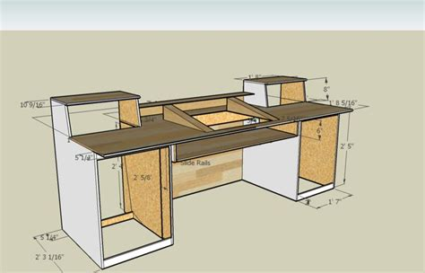 Measurements For A Recording Desk Build I Think I M Going Studio Desk Design