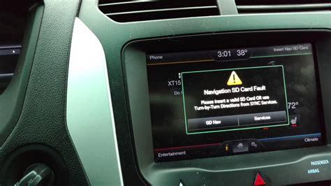 ford sync sporadic sd card fault error youtube