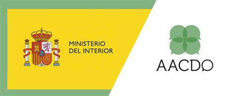 ministerio interior asociaciones aacdo inscrita en el registro nacional asociaciones