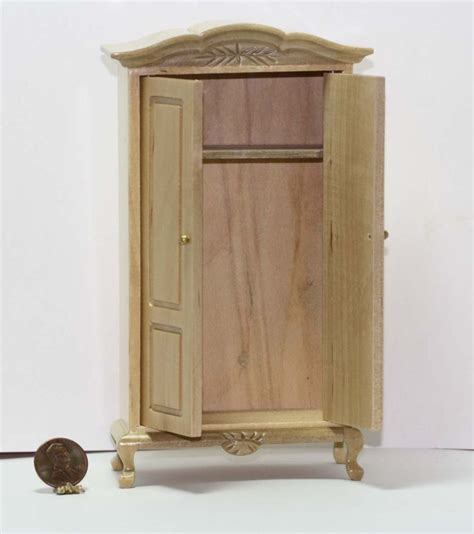 natural wood armoire armoire in natural wood dollhouses and more