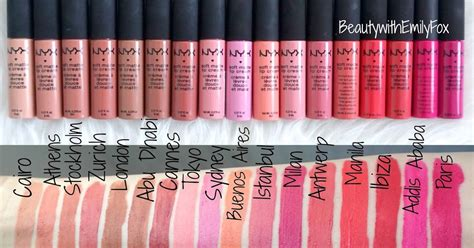 nyx soft matte lip ingredients beautywithemilyfox nyx soft matte lip creams all 34