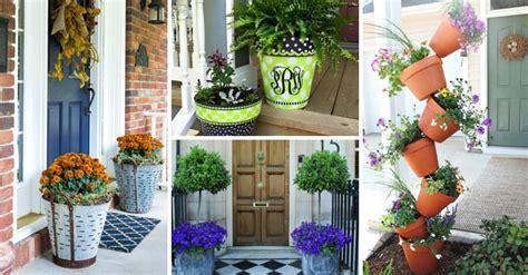 front door flower pots  liven   home