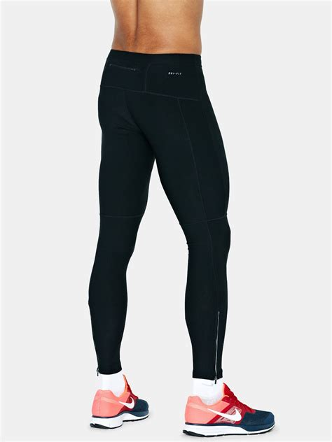 Bench Jackets Mens Nike Filament Mens Running Tights In Black For Men Lyst