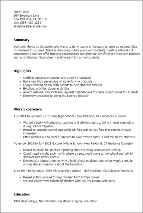 School Counselor Resume by Guidance Counselor Resume Template Best Design Tips
