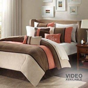 Coral And Brown Bedroom Bedroom Pinterest