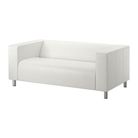 white leather couch ikea klippan two seat sofa kimstad white ikea