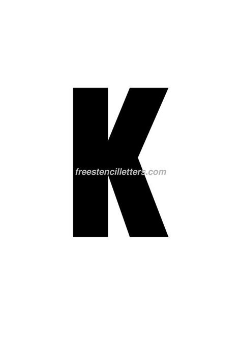 Printable 9 Inch Letter Stencils | print 9 inch k letter stencil free stencil letters