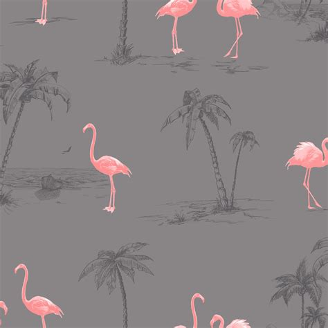 wallpaper with pink flamingos colours charcoal pink flamingo mica wallpaper pink