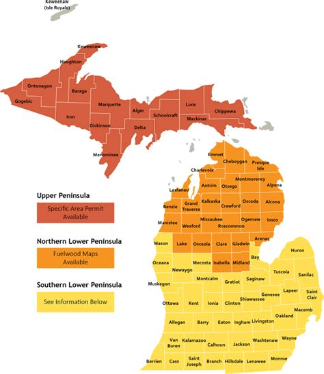 michigan state forest map dnr fuelwood maps