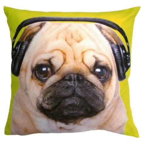 pug cushion buy caldeira dj pug cushion from our cushions range tesco
