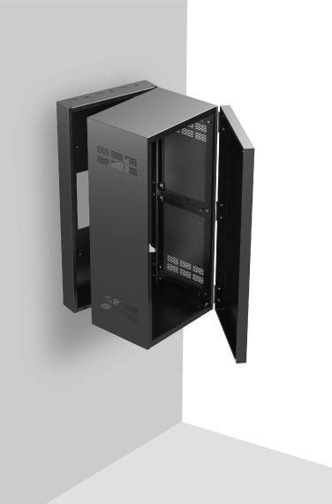 """Stand Alone Wall Rack with Adjustable Rails 15"""" Deep, 24RU"""