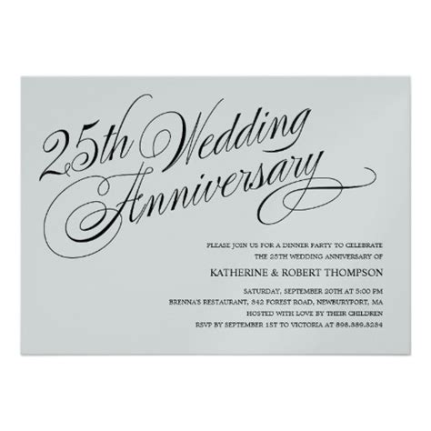 wedding invitation wording silver wedding anniversary