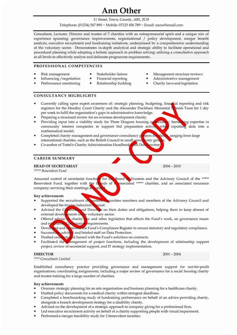 Executive Resume Objective Examples by How To Write A Good Cv Example Letters Free Sample Letters