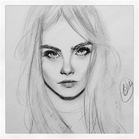 sketchbook cara 5 min cara delavigne sketch by brandymarie87 on deviantart