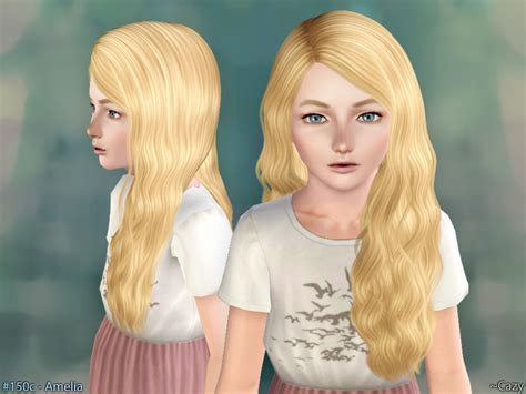 the sims 4 hair for female kids the sims resource cazy s amelia hairstyle child