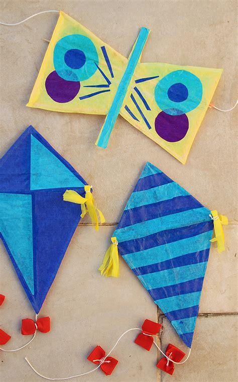 Handmade Kites - handmade kites of straws and tissue paper for