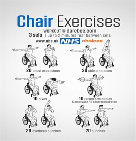printable exercise routines for seniors chair exercises print out