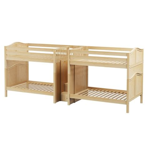 quadruple bunk bed maxtrixkids giga nc quadruple bunk bed with staircase