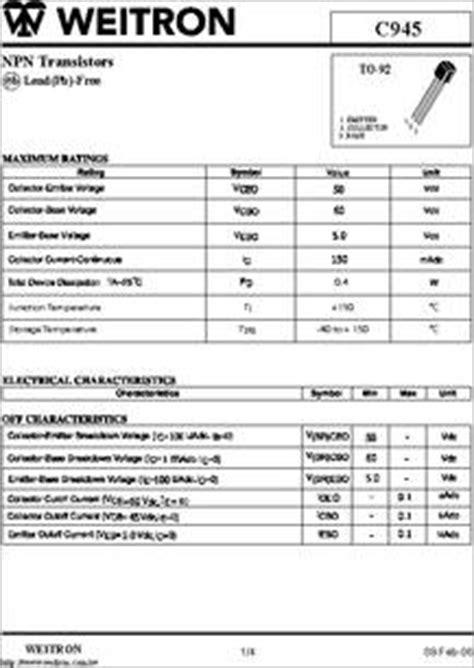 transistor a970gr c945 npn transistor datasheet 28 images c945 datasheet npn transistors c945 datasheet c945