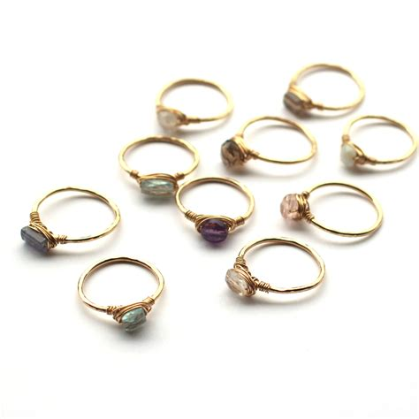 Cheap Handmade Jewelry - handmade wire wrapped gemstone rings jou jou my