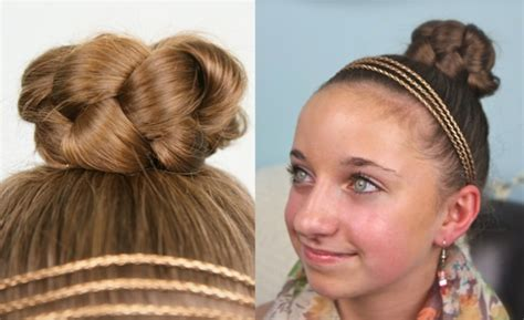 Quick Pretty Easy Hairstyles For Tweens | simple braided bun cute quick style designed for young