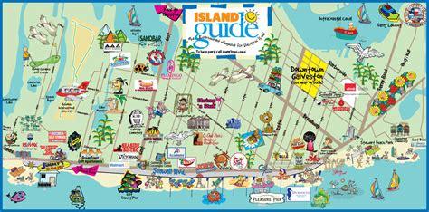 map of galveston island texas galveston map island guide magazine