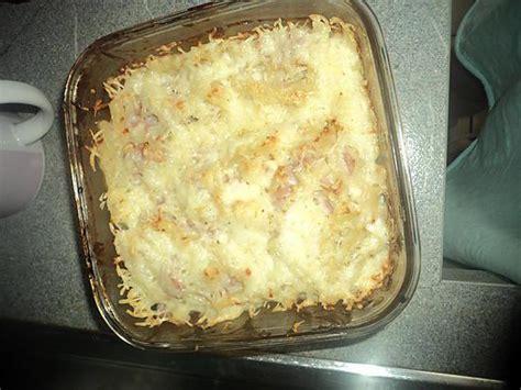 recette de gratin de pate jambon et fromage
