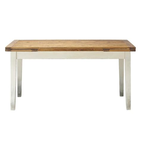 Extending Wooden Dining Table Solid Wood Extending Dining Table W 160cm Tradition Maisons Du Monde
