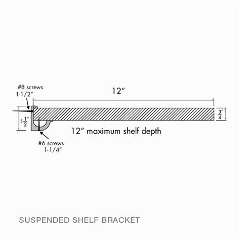 suspended shelf brackets rakks store