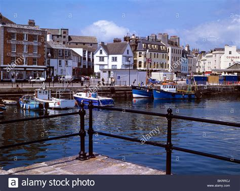 the city of plymouth the barbican historic harbour area in the city of