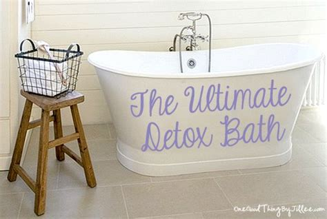 bathtub detox the ultimate detox bath