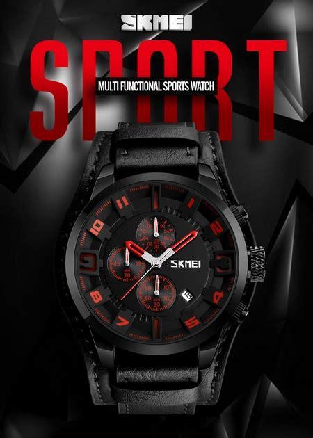 Jam Tangan Skmei Dg1251 skmei jam tangan analog pria 9165 brown