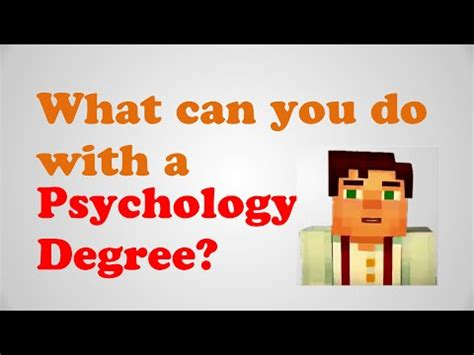 What Can U Do With An Mba Degree by What Can You Do With A Psychology Degree Major