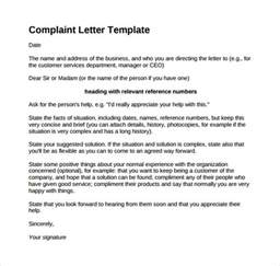 Complaint Letter About My Sle Formal Complaint Letter Sle Complaint Letter 9 Exles In Pdf Word Formal Letter Of Complaint