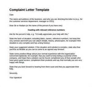 Sle Complaint Letter To Bank Ceo Complaint Letter 16 Free Documents In Word Pdf